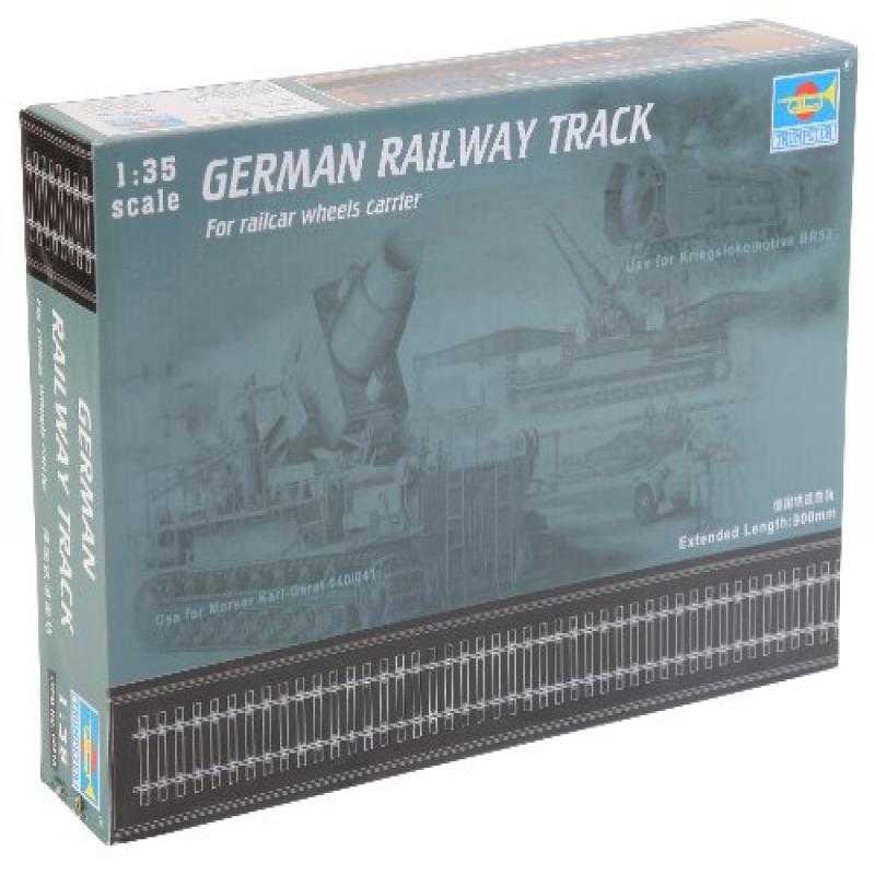 "Trumpeter 1/35 German Railway Track Set (36"" of Extra Track)"