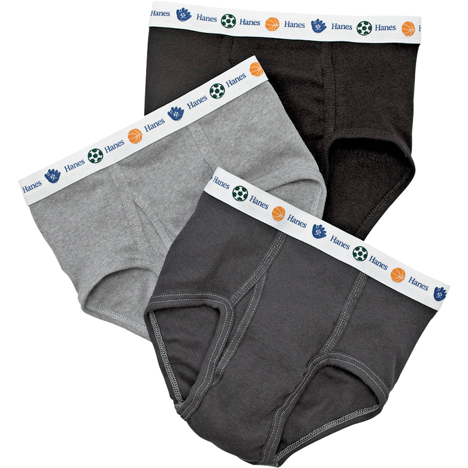 Hanes Toddler Boys' Briefs, 5-Pack