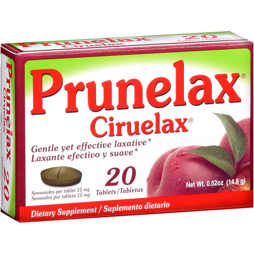 Prunelax Ciruelax Dietary Supplement 15mg, 20ct