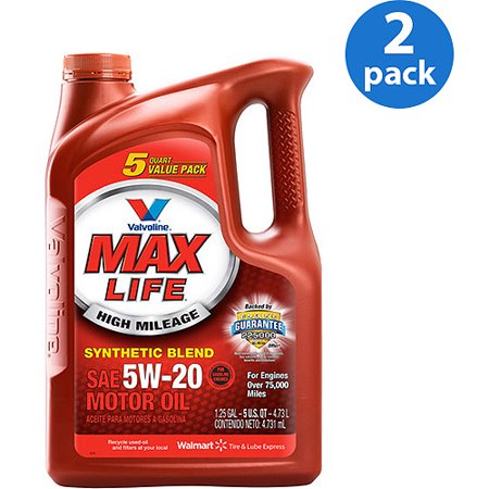 Valvoline maxlife 5w 20 synthetic blend motor oil 5 qt for How to get motor oil out of jeans