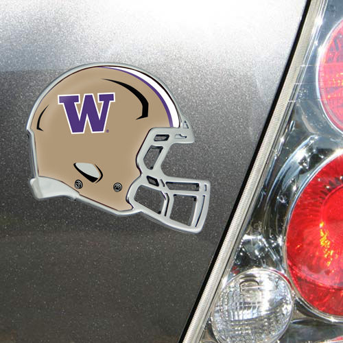 Washington Huskies Metal Helmet Domed Auto Emblem