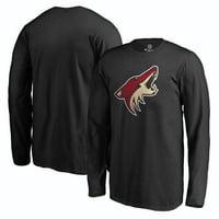 Arizona Coyotes Rinkside Youth Primary Logo Long Sleeve T-Shirt - Black