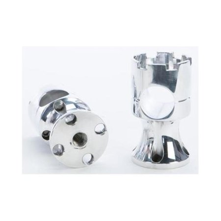 Rooke Customs R-HR2252-P 1-1/8in. Wide Base Risers - 2.25in. - Polished