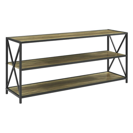 Walker Edison 60 in. Wide X-Frame Media Bookshelf