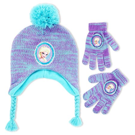 77586bcb376256 Disney - Disney Frozen Elsa Hat and Gloves Cold Weather Set, Little ...