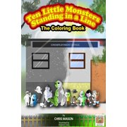 Ten Little Monsters Standing in a Line The Coloring Book - eBook