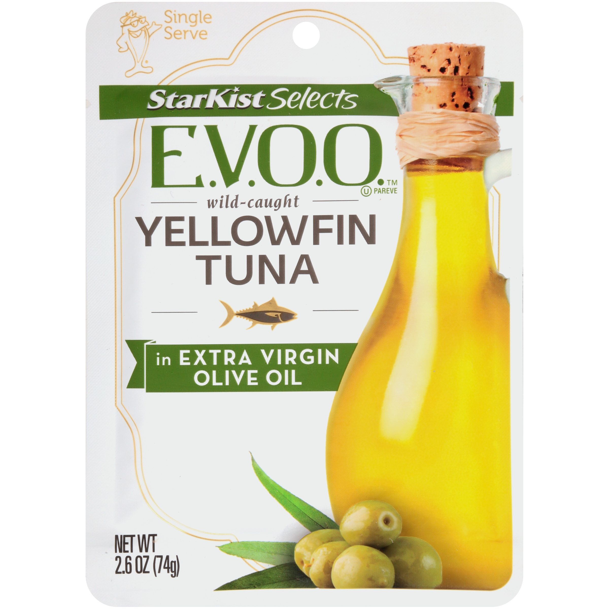 StarKist Selects Yellowfin Tuna in Extra Virgin Olive Oil, 2.6 Ounce Pouch
