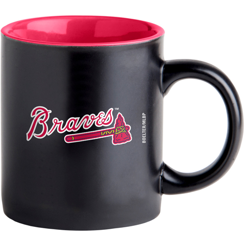 Atlanta Braves 14oz. Black Matte Mug - No Size