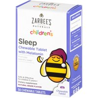 Zarbee's Naturals Children's Sleep Chewable Tablet with Melatonin , Natural Grape Flavor, 50 Chewable Tablets (1 Box)