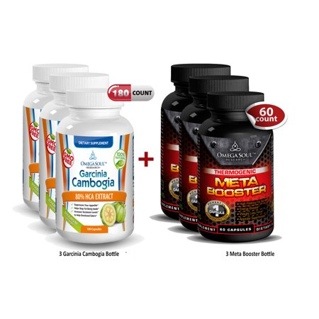 Bundle Pack 3 Bottle Garcinia et 3 Super Meta Booster