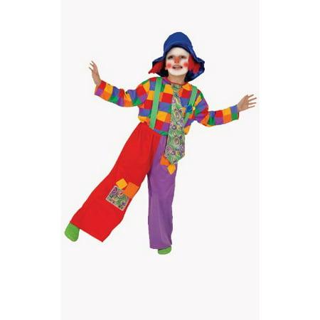 Dress Up America  Boys' 'Colorful Clown' Costume - - Clown Costume Boys