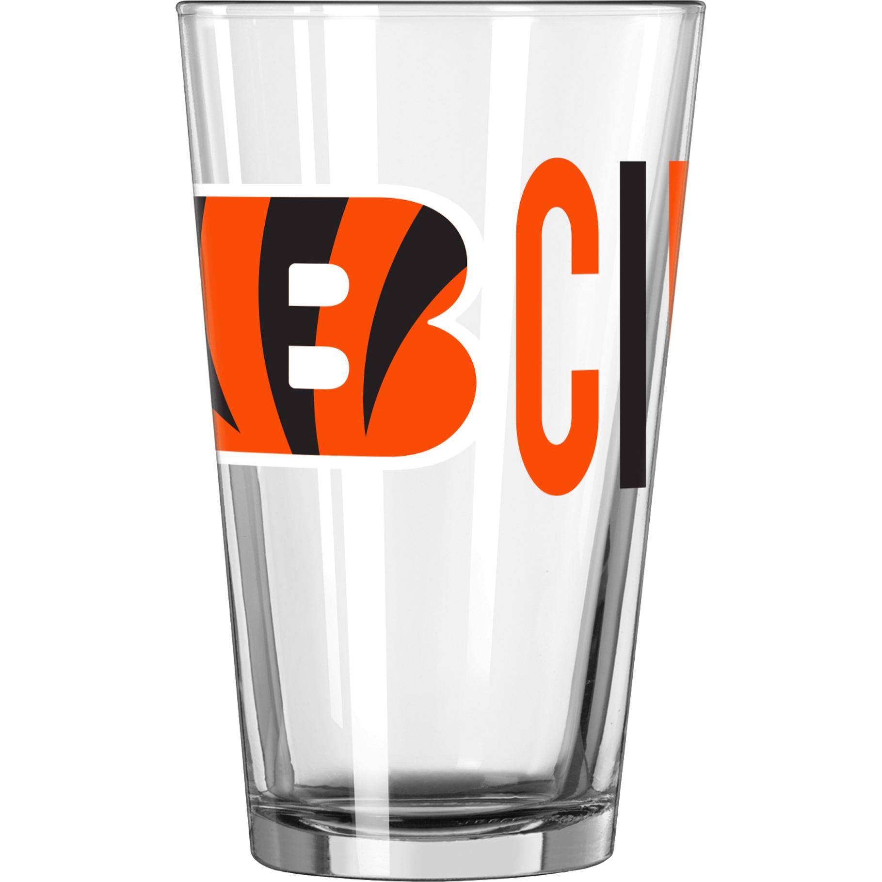 NFL Cincinnati Bengals 16 oz. Overtime Pint Glass