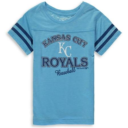 MLB Kansas City ROYALS TEE Short Sleeve Girls Fashion 60% Cotton 40% Polyester Alternate Team Colors 7 - (Kansas City Royals Fender)