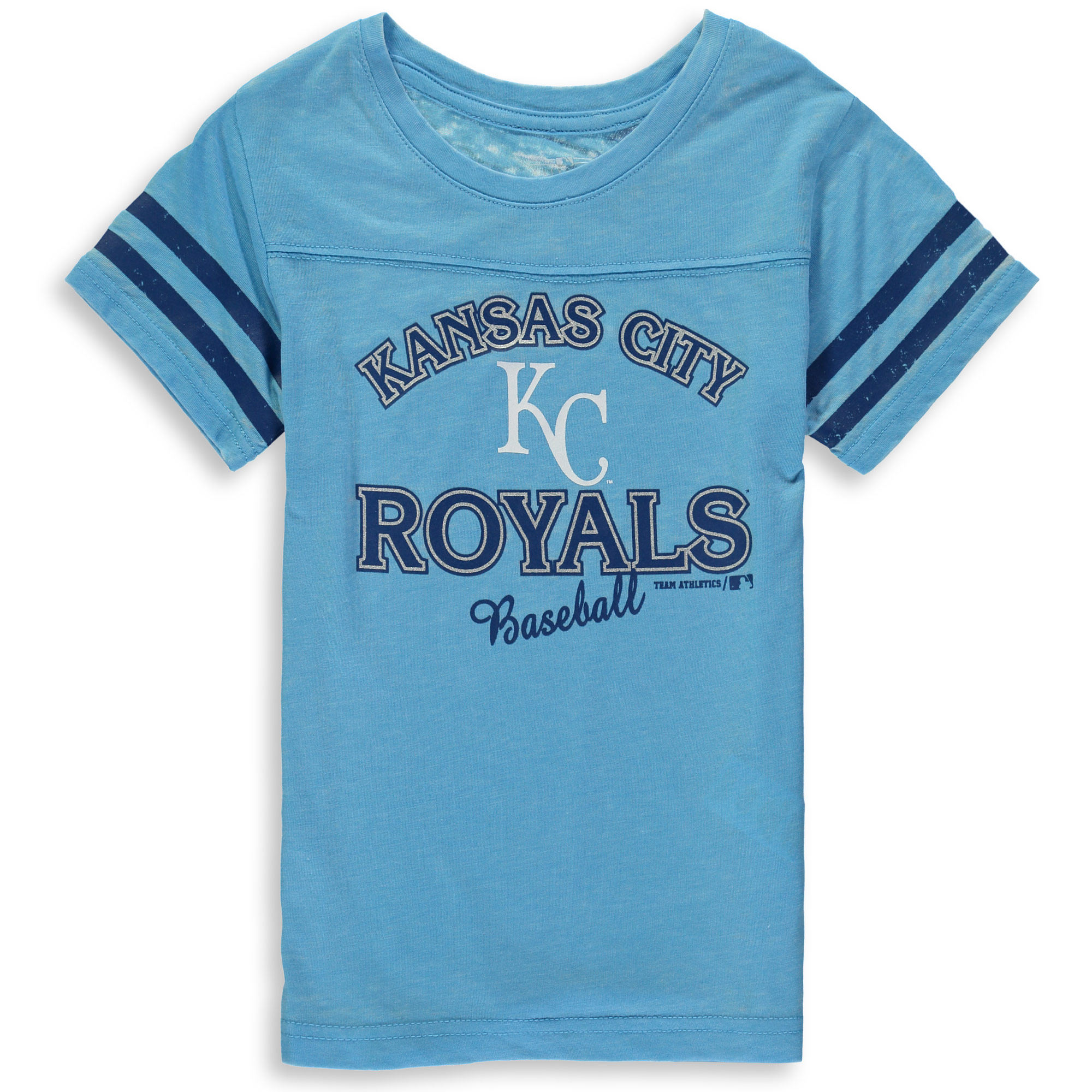 MLB Kansas City ROYALS TEE Short Sleeve Girls Fashion 60% Cotton 40% Polyester Alternate Team Colors 7 - 16