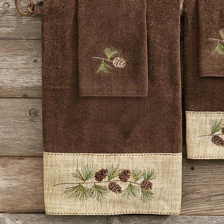 Pine Haven Cabin Bath Towel - Wilderness Bath Decor