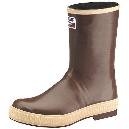 """Xtratuf Men's Legacy 12"""" Plain Toe Boots w  Chevron Outsole & Heel Size 10 by Xtratuf"""