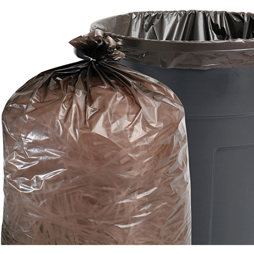Stout Total Recycled Content Brown Trash Bags, 30 gal, 100 ct