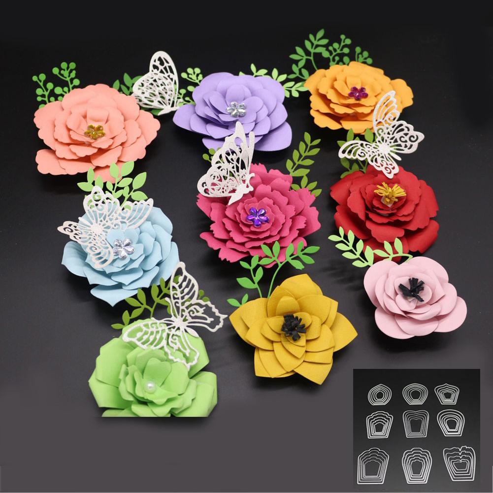 HiCoup Flower Floral Cutting Die DIY Scrapbook Photo Album Paper Craft Embossing Tool