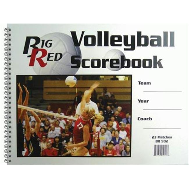 Olympia Sports BK029P 9.25 in. x 12 in. Volleyball Scorebook by Olympia Sports