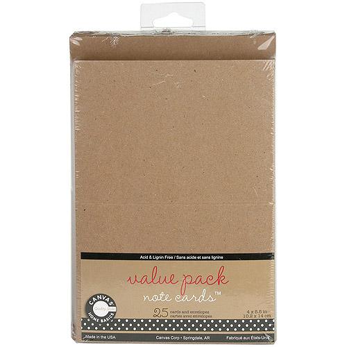 "Value Pack Cards and Envelopes, 4"" x 5.5"", 25/Pkg"
