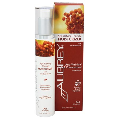 Aubrey Organics - Age-Defying Therapy Moisturizer with Sea Buckthorn - 1.7 oz. (Formerly Sea Buckthorn Moisturizing Cream)