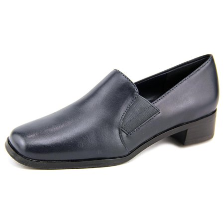Trotters Ash Women N/S Square Toe Leather Blue Loafer