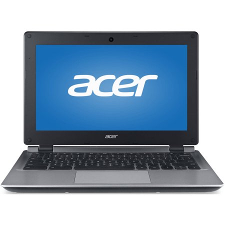 Acer Black 11.6 C730 Chromebook PC with Intel Celeron N2840 Processor, 2GB Memory, 16GB eMMC Drive and Chrome