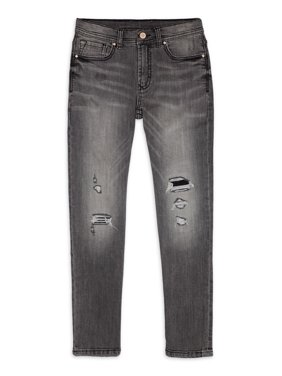 Wonder Nation Boys Rip and Repair Jeans, Sizes 4-18 & Husky