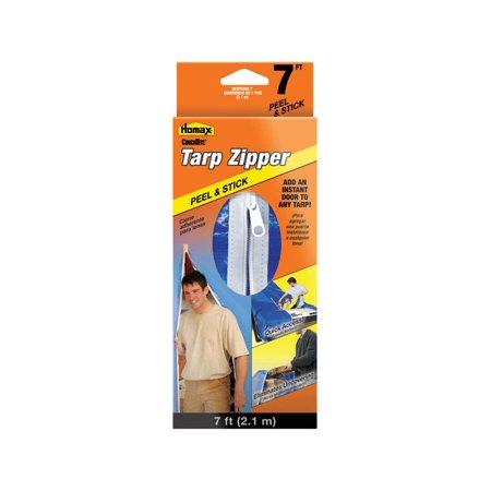 HOMAX PRODUCTS 7-Ft. Peel 'N Stick Tarp Zipper - Tarp Zipper Door