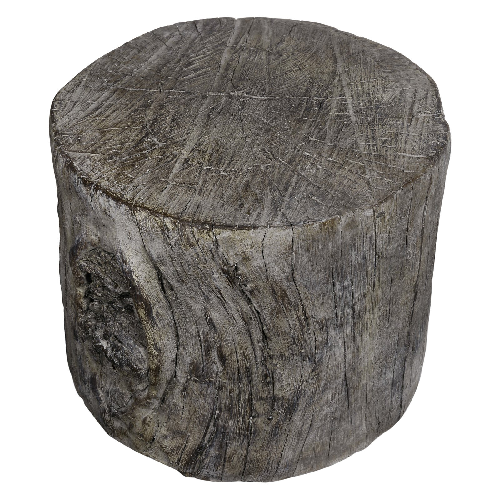 A and B Home Decorative Tree Stump Garden Stool