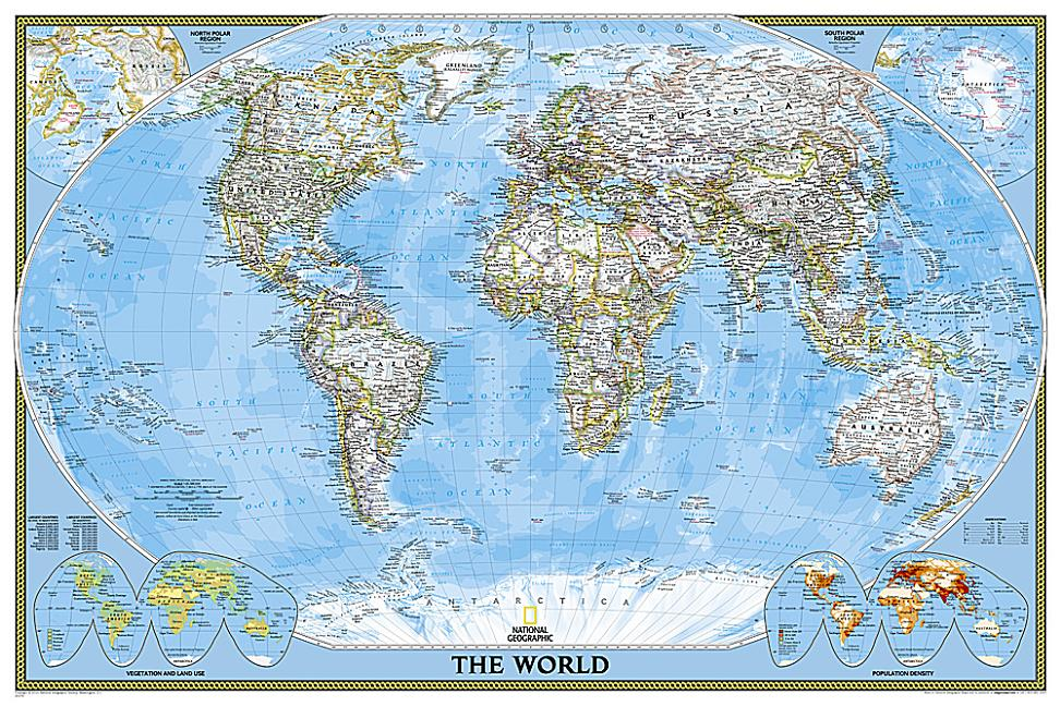 National Geographic World Classic Wall Map Laminated Poster Size 36 X 24 Inches Other Walmart Com Walmart Com