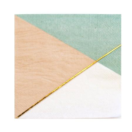 Harlow & Grey, Desert Rose Colorblock Lunch Paper Napkins, 6.5