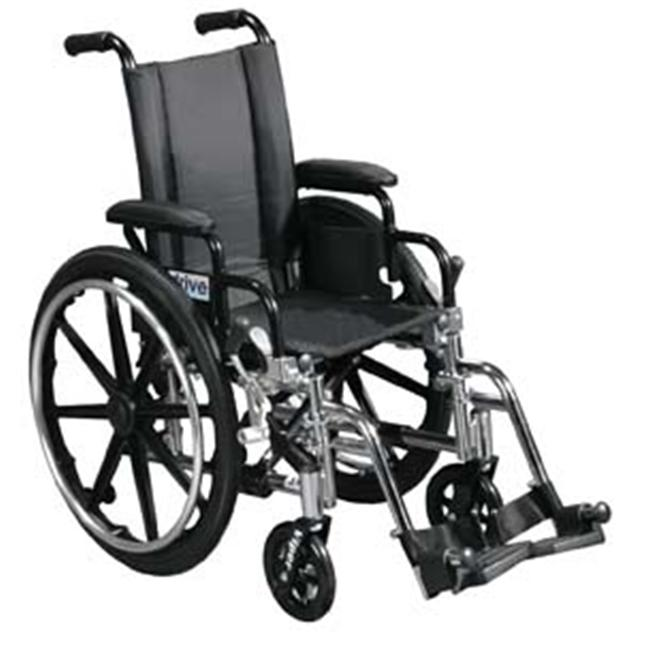 Viper Wheelchair with Various Flip Back Desk Arm Styles and Front Rigging Options- Black