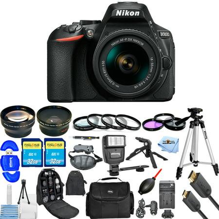 Nikon D5600 DSLR Camera W/ AF-P DX NIKKOR 18-55mm ALL YOU NEED BUNDLE NEW MODEL