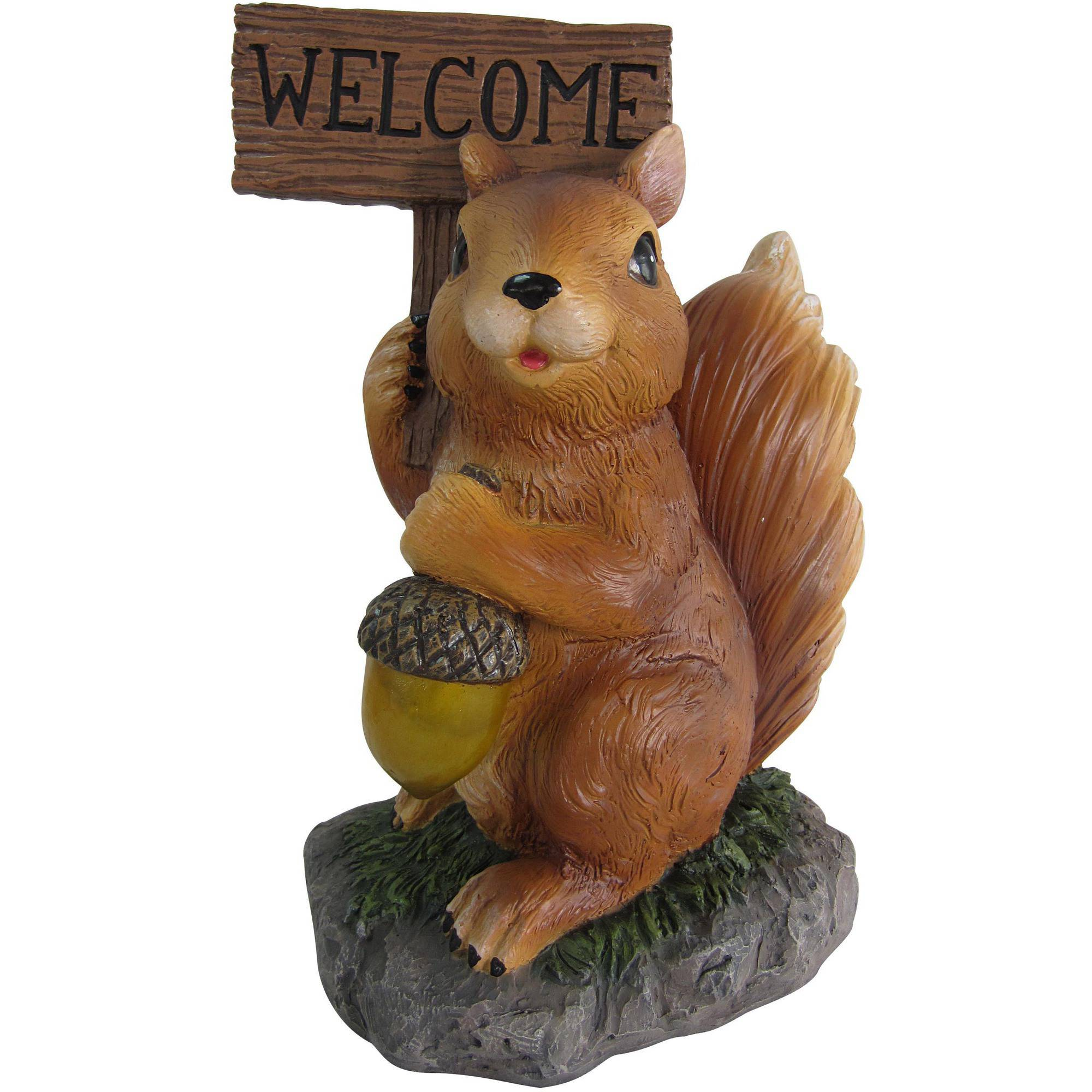 Mainstays Solar Squirrel Garden Ornament