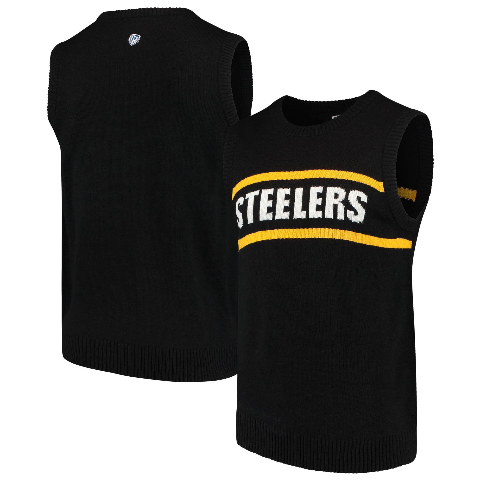 Pittsburgh Steelers G-III Sports by Carl Banks Crewneck Sweater Vest - Black
