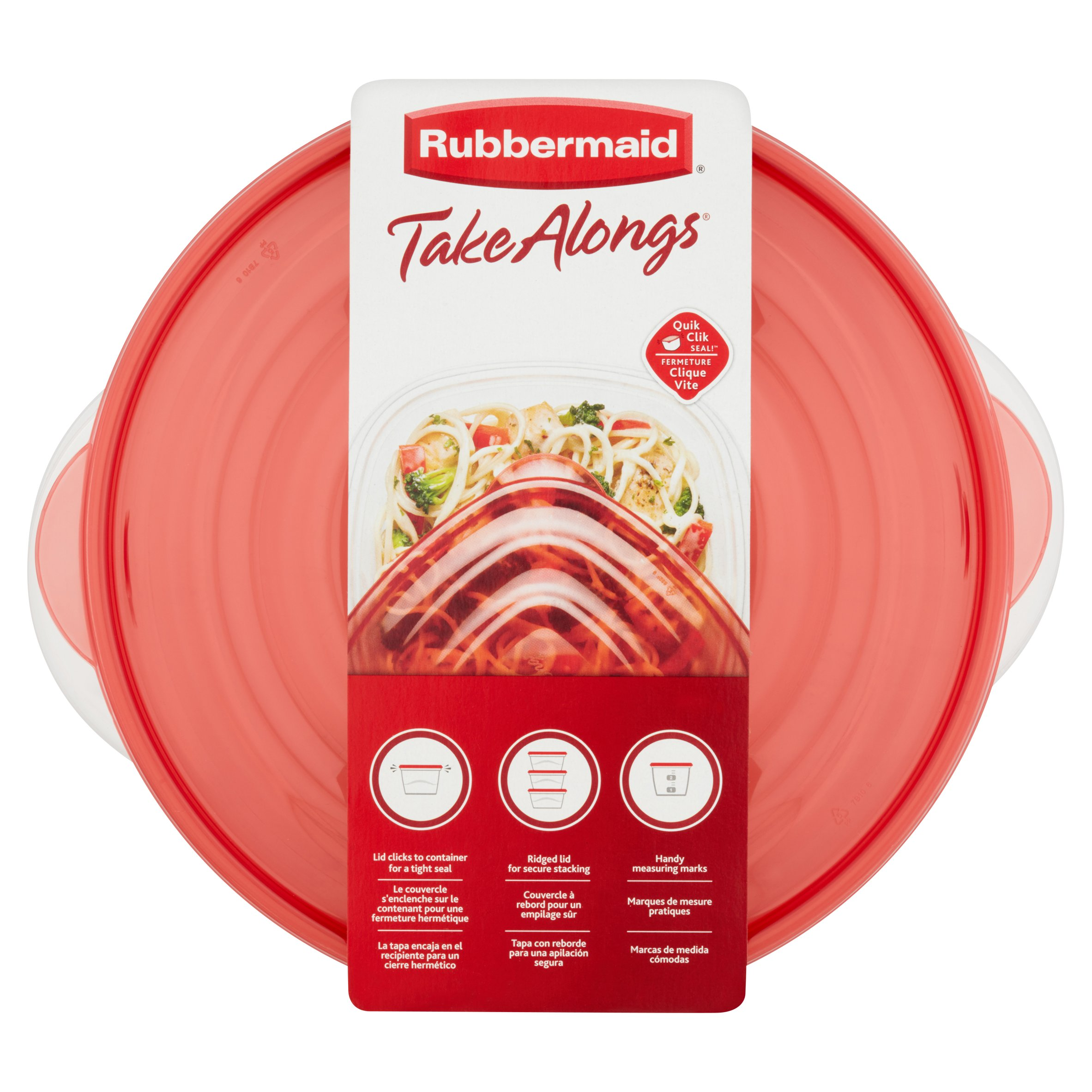 Rubbermaid TakeAlongs 15.7 Cups Serving Bowls, 2 count