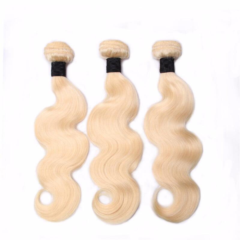 "Amazing Star Brazilian Virgin Hair Body Wave 3 Bundles Blonde Human Hair Weave, 20""22""24"", 613 Color"
