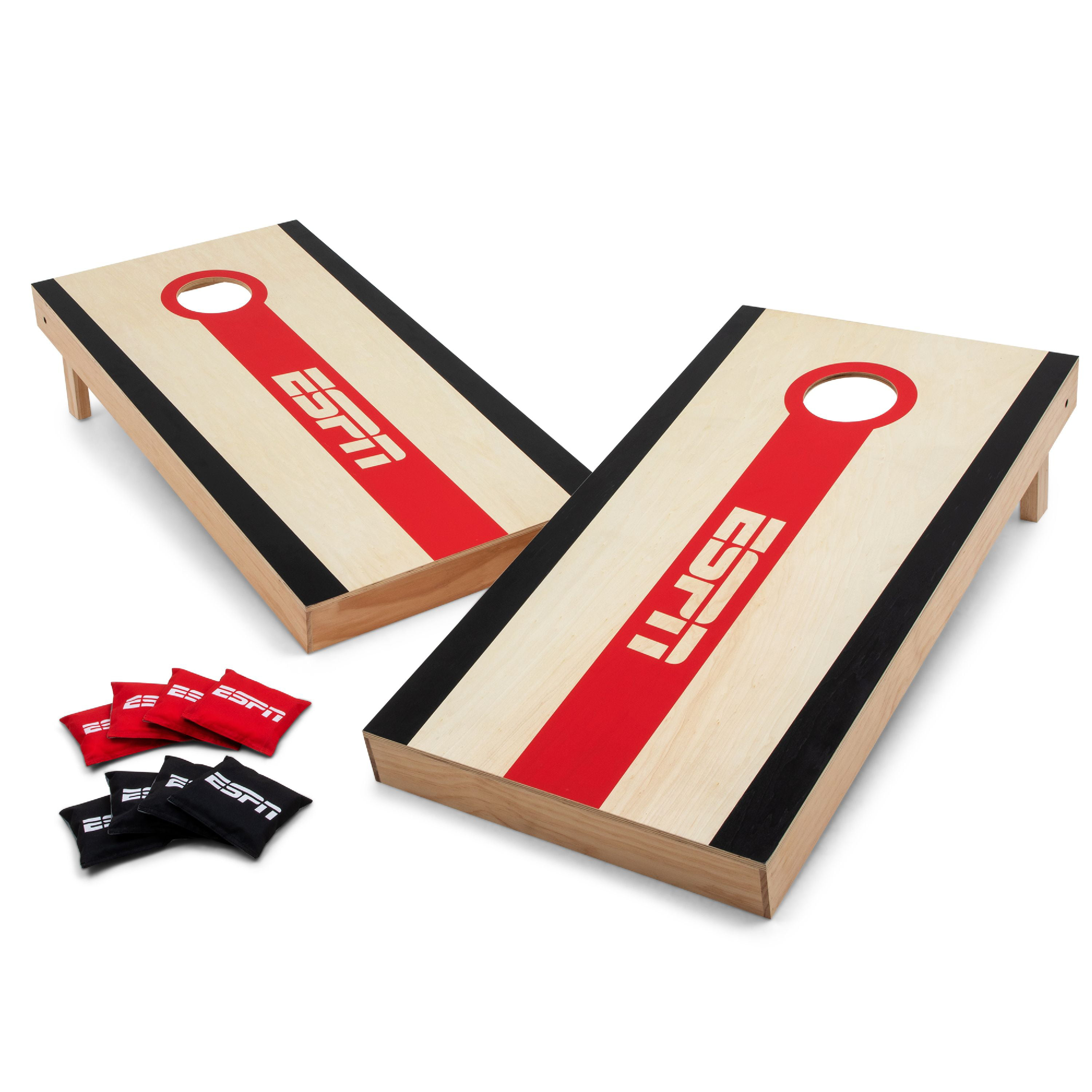 Strange Espn Regulation Size Premium Cornhole Bean Bag Toss Game Set With 8 All Weather Dual Sided Slick N Stick Bean Bags Aca Official Tournament Size 2 X Evergreenethics Interior Chair Design Evergreenethicsorg