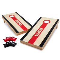 ESPN Regulation Size Premium Cornhole Bean Bag Toss Game Set with 8 All-Weather Dual Sided Slick-N-Stick Bean Bags, ACA Official Tournament Size 2' x 4' Boards