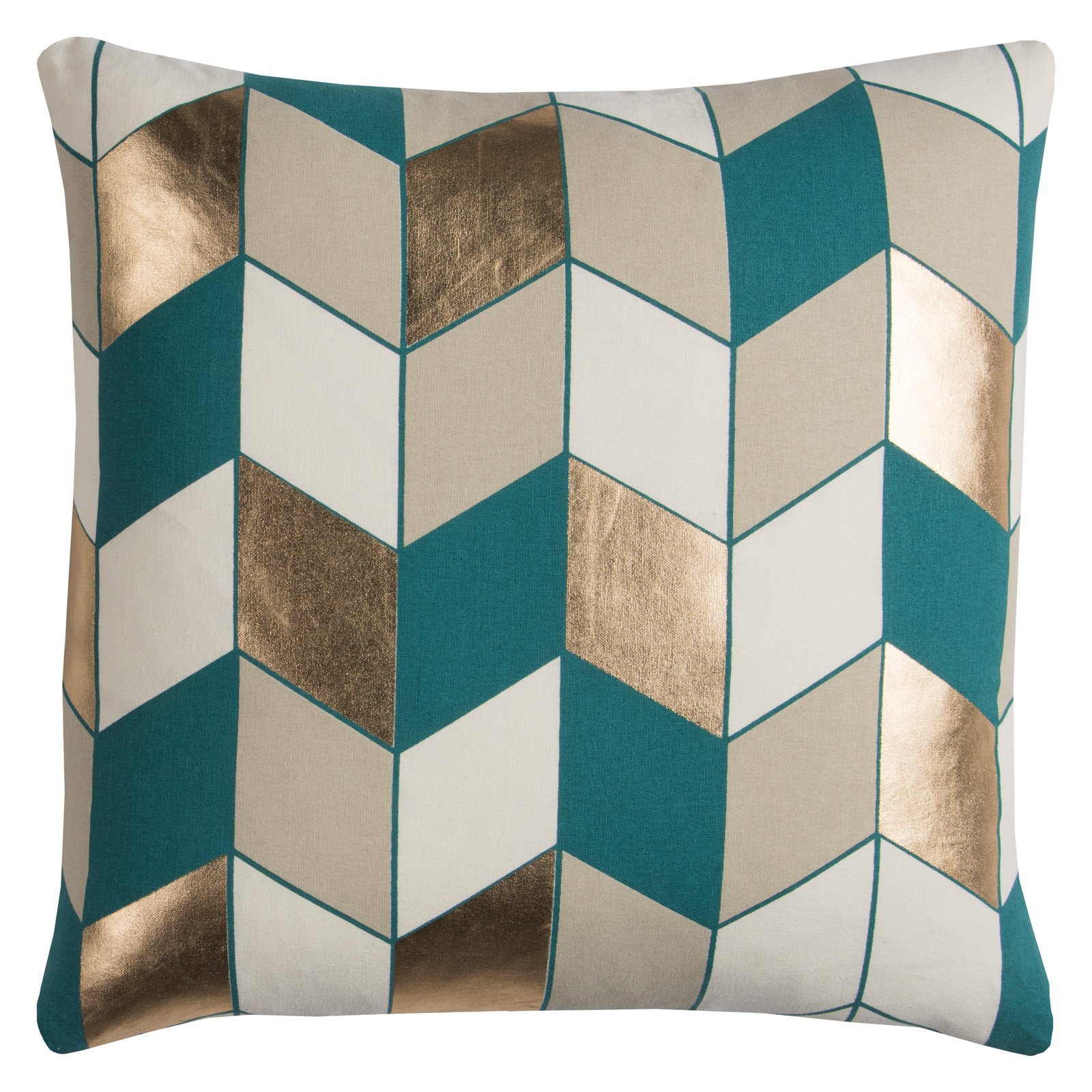 """Rachel Kate By Rizzy Home Decorative Poly Filled Throw Pillow Geometric 20""""X20"""" Gray"""