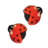 Ladybug Cake Toppers (Lady Bug Edible Sugar Cupcake & Cake Decoration Topper-Pack of)