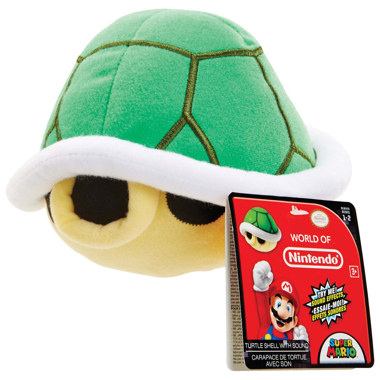 World Of Nintendo Super Mario Turtle Shell With Sound 8 Inch Plush Figure