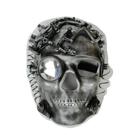 Men Women Full Face Costume Mask Skeleton Skull Steam Punk Robot Future Halloween