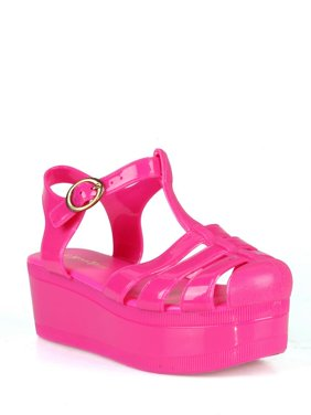 04495ef6234a Product Image Nature Breeze caged Jelly Platform Women's Sandals in Fuchsia