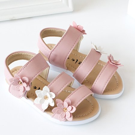 2019 Fashion Summer Kids Sandals Big Flower Girls Pricness Shoes