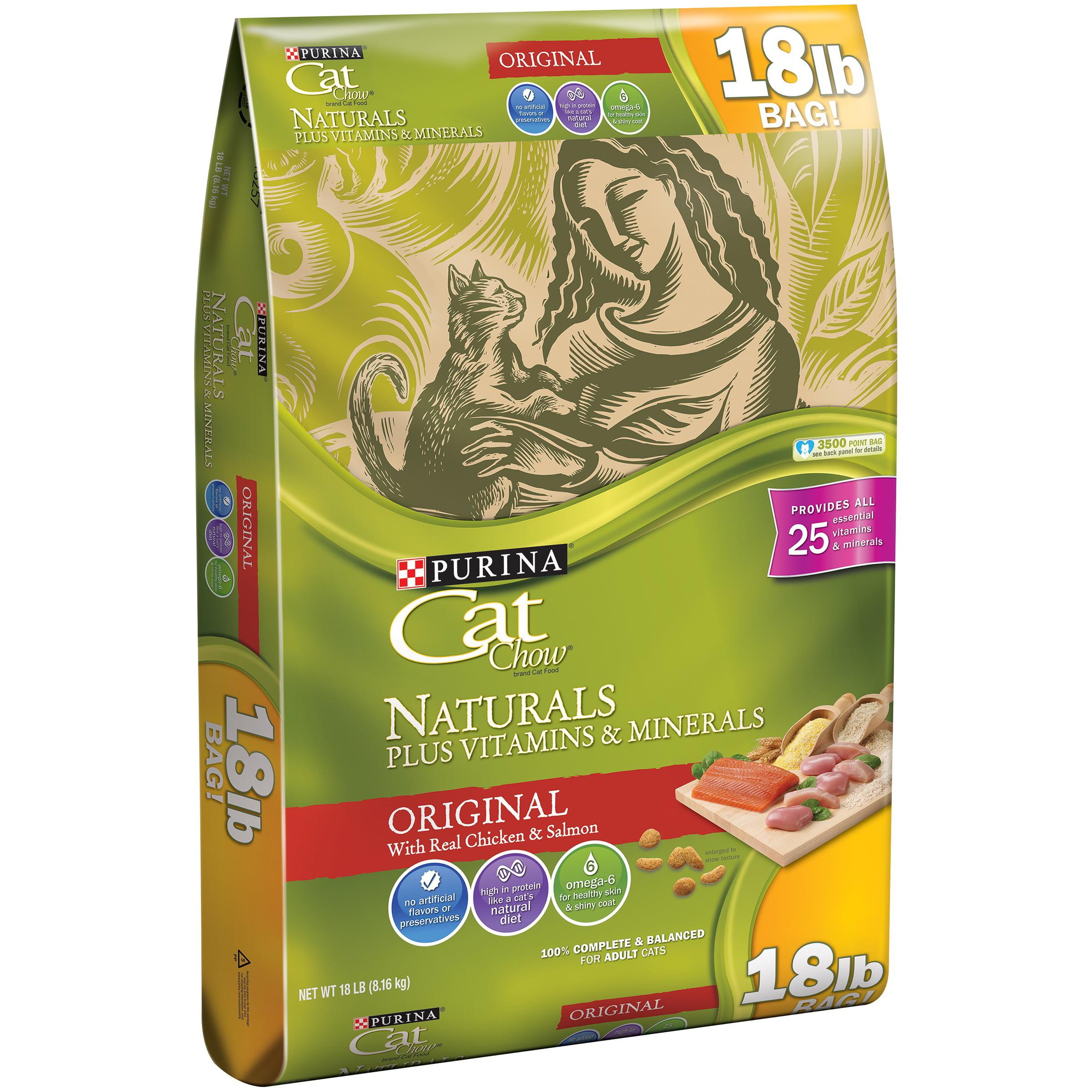 Purina Cat Chow Naturals Original Plus Vitamins & Minerals Cat Food 18 lb. Bag