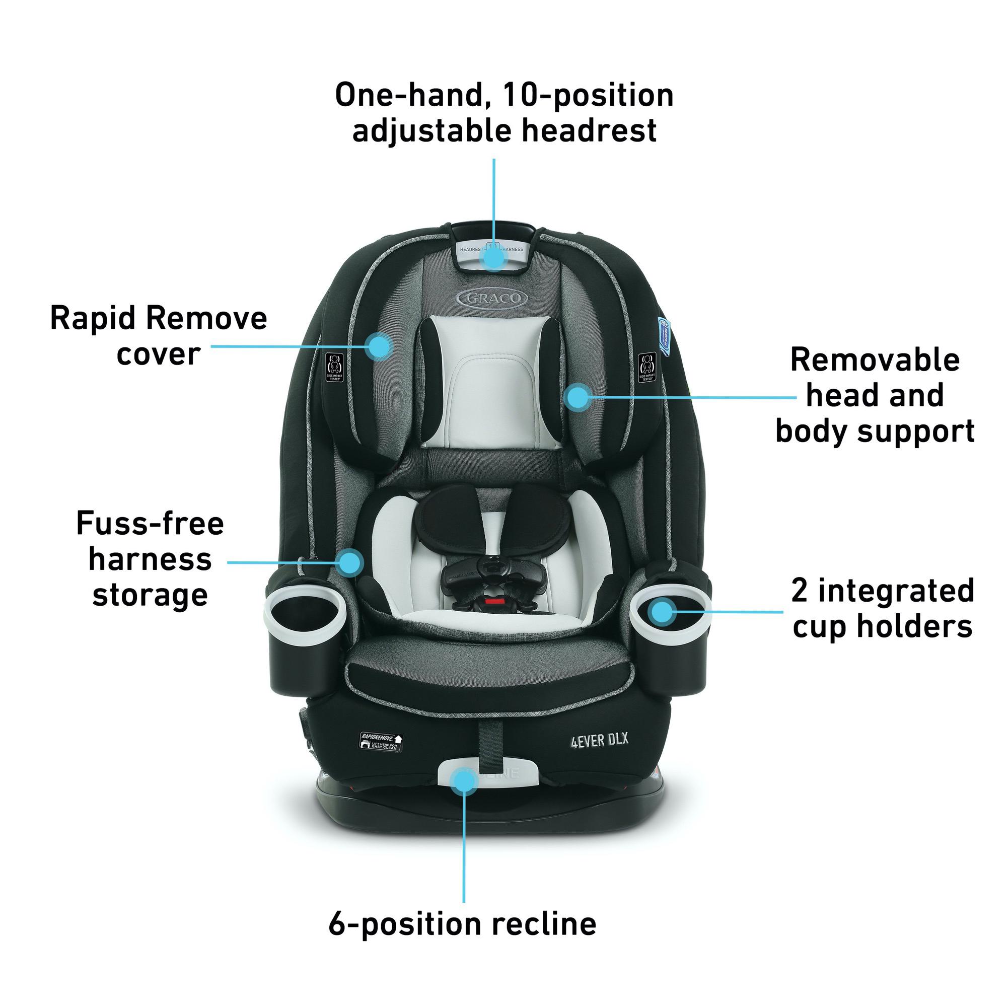 Graco 4ever Dlx 4 In 1 Convertible Car Seat Fairmont Walmart Com Walmart Com
