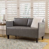 Christopher Knight Home Cayo Faux Leather Loveseat Sofa By