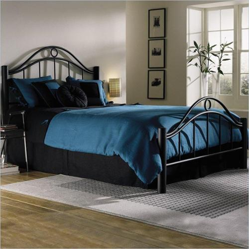 Linden Ebony Bed-Bed Size:Queen